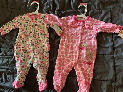 $35 Babysteps Infant Boys/' Car Print Footie Jammies~NB~6M~Black Combo~NWT~Org