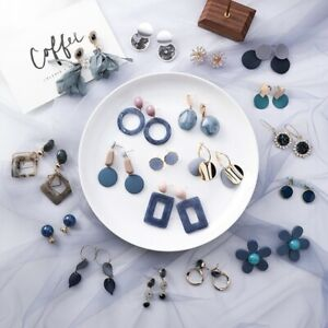 Fashion-Blue-Gray-Series-Earrings-Female-Geometric-New-Personality-Stud-Jewelry