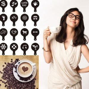 16-Coffee-Machine-Barista-Stencils-Template-Chic-Flowers-Pad-Duster-Spray-Art