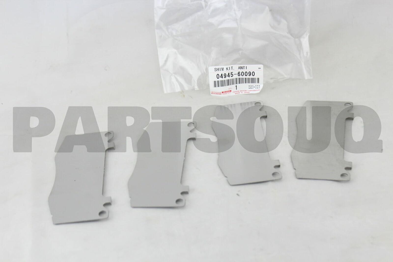 Genuine Toyota Shim Kit Anti Squea 04945-60090