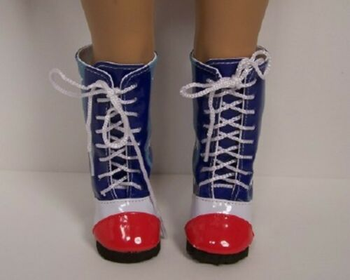 """Debs RED WHITE BLUE Star Flag Knee Boots Doll Shoes For 18/"""" American Girl"""