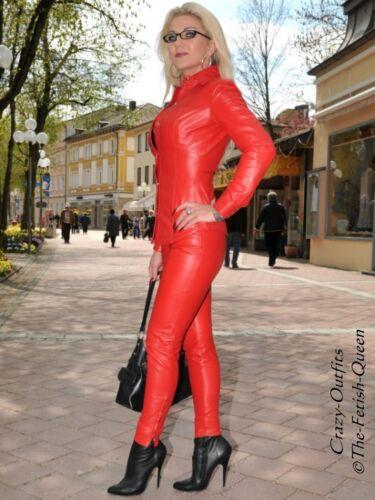 Leder Druckknöpfe 32 Lederbluse Xxxl Xs 58 Größe Bluse Rot wHttTdCq