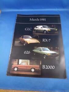 MAZDA-1981-CAR-SALES-BROCHURE-ADVERTISING-GLC-WAGON-SPORT-RX-7-626-COUPE-B200