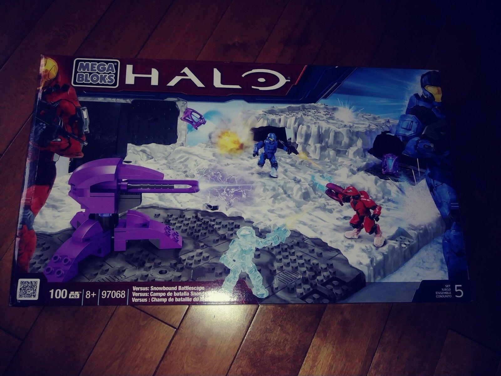 Mega Bloks Halo Halo Halo Versus   Snowbound Battlescape 100 pcs w  3 Figures NEW f83430