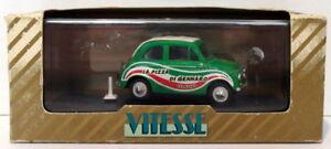 Vitesse-Models-1-43-Scale-Diecast-L064-Fiat-500-La-Pizza-Di-Gennaro-Green
