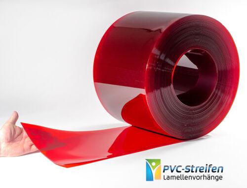 300mm x 3mm rot-transparent PVC Lamellen Streifen Warnstreifen Signalstreifen