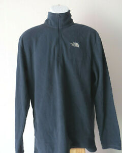 vtg-MEN-039-S-NORTH-FACE-Navy-Blue-FLEECE-PULLOVER-jacket-sweater-zip