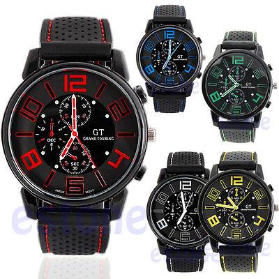 Men's Rubber Band MARVELLOUS Military Racing F1 Quartz Sports Wrist Watch