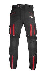 Motorbike-Motorcycle-Trousers-Waterproof-Cordura-CE-Armoured-Cargo-Biker-Pants