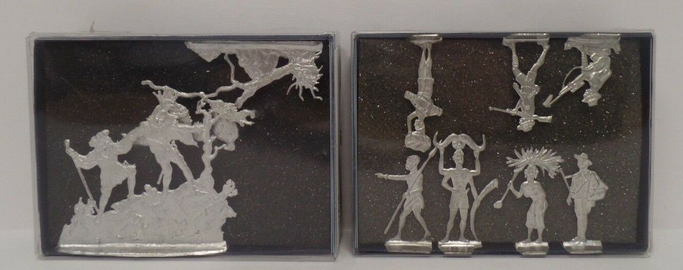 Berliner Zinnfiguren lot of 2 Decredive Metal Cast Display Figurines Figurines Figurines  010418DBT 70c0b3