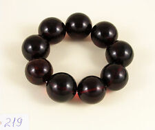 Big PREMIUM Cherry baltic AMBER bracelet 69g Bernstein 24mm round beads red 琥珀