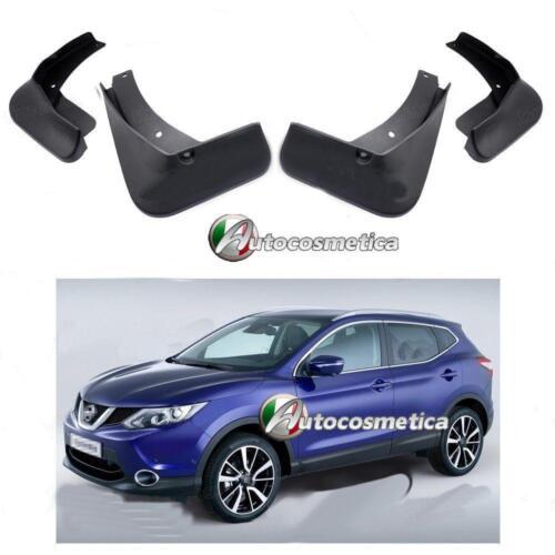 per Nissan Qashqai 2014/>4 Paraschizzi parafanghi personalizzati in plastica nera