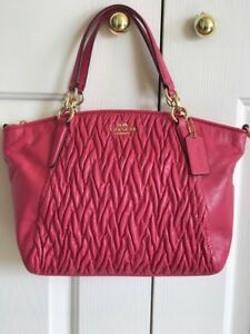 ebd70870aad3 Image is loading NWT-Coach-F37081-Twisted-Gathered-Leather-Small-Kelsey-