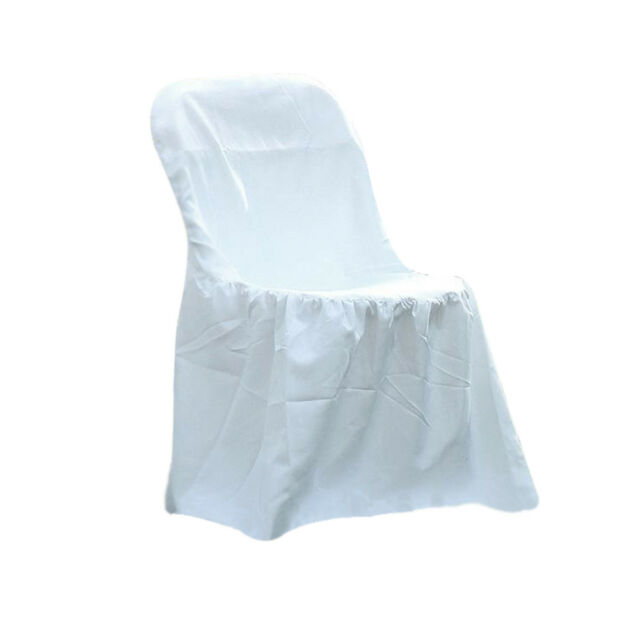 For weddings and parties For Sale Used White Round Top Linen Chair Covers