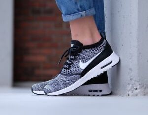 Nike WMNS Air Max Thea Ultra Flyknit Black White 881175 001