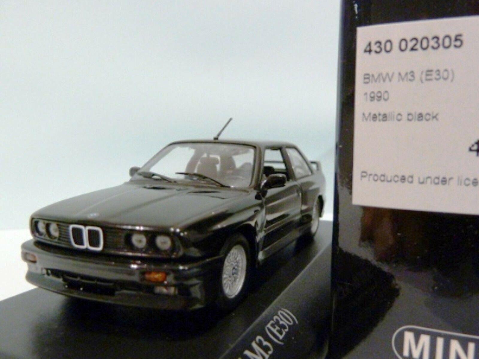 Wow extrêmeHommest rare  BMW M3 E30 2.3 l 16 V 1987 noir met 1 43 Minichamps - 635 M5 GTR  exclusif