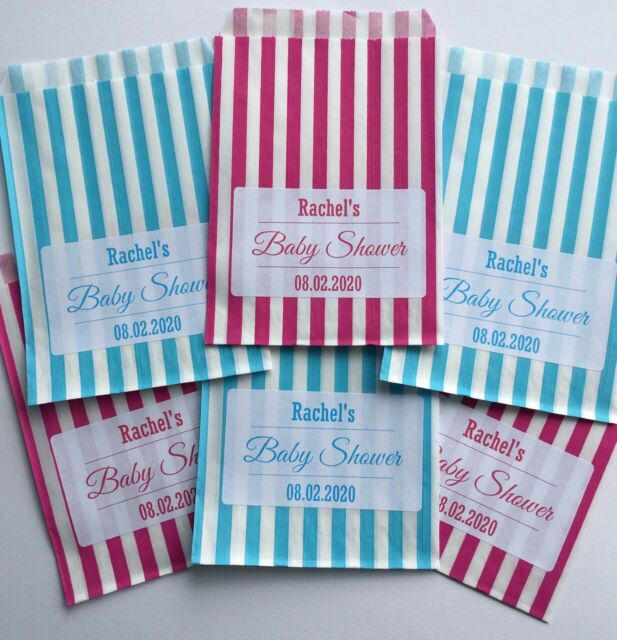 Personalised baby shower sweet bags party bags favour bags wedding sweet cart