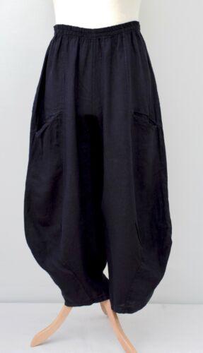 Pantaloni Pockets Balloon Oversized 2 xxl Hatrm navy pantaloni Xl Linen Lagenlook YqxwPC