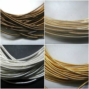 120 inches stiff french metal wire purl cord coil