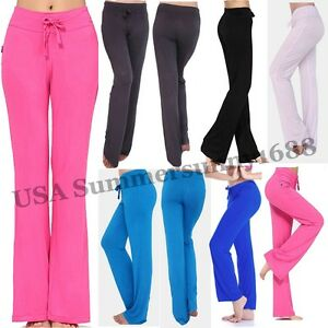 Women-Yoga-Baggy-Wide-Sport-Legged-Ladies-Trousers-Pants-Flared-Palazzo-Leggings