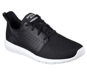 Skechers-Hombre-FOREFLEX-Cordones-Caminar-y-Entrenamiento-Zapatillas-Negro