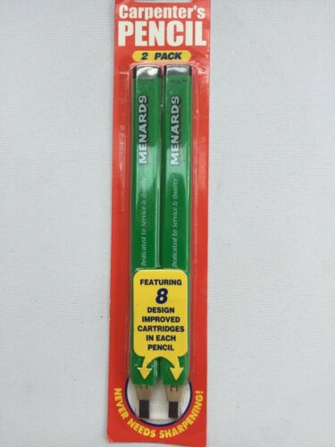 NEW in PKG w// FREE SHIP MENARDS 2 Pack Carpenter/'s Pencil w// 8 Cartridges each