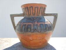 Odetta HB Quimper vase grès décor géométrique vers 1930