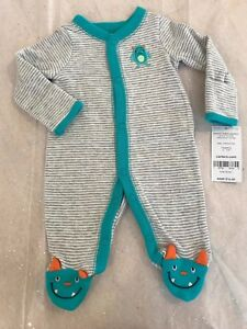 bd7f358eb0f2 CARTER S One Piece sleep and play Baby Boys Outfit PREEMIE LITTLE ...