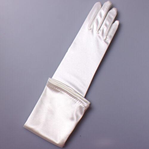 Women Ladies Elegant Satin Smooth Long Glove Wedding Party Evening Prom Costume