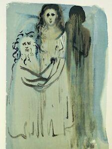 Dali Salvador: Fegefeuer 16 - Holz Graviert Original #1960-1963# Divine Komödie