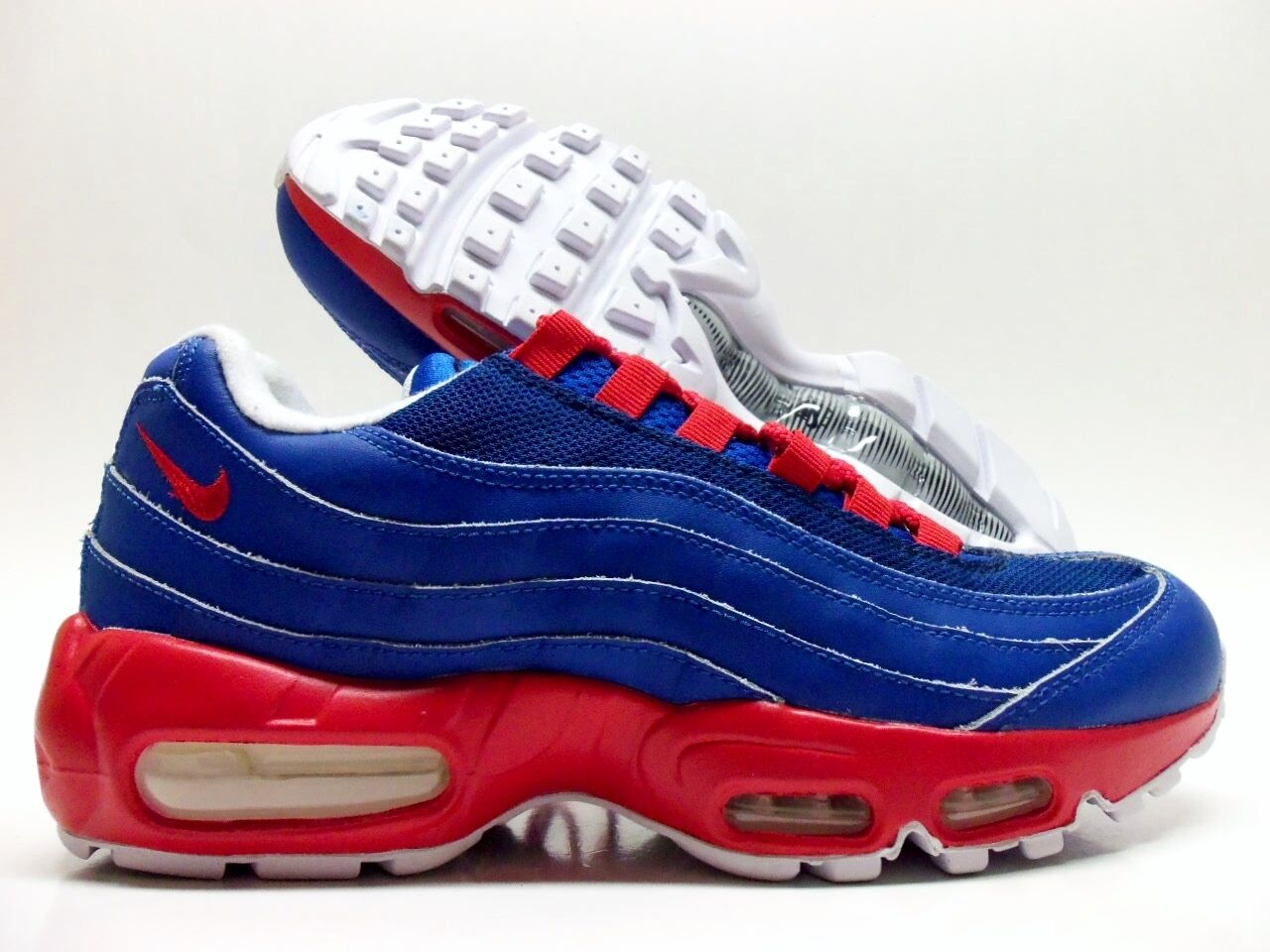 NIKE AIR MAX 95 ID UNIVERSITY blueE SPORT RED SIZE WOMEN'S 8.5 [818593-992]