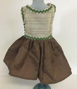 ab2ffaa9c Vintage Sheer Top w/ Brown Bottom & Zig Zag Trim Doll Dress 7