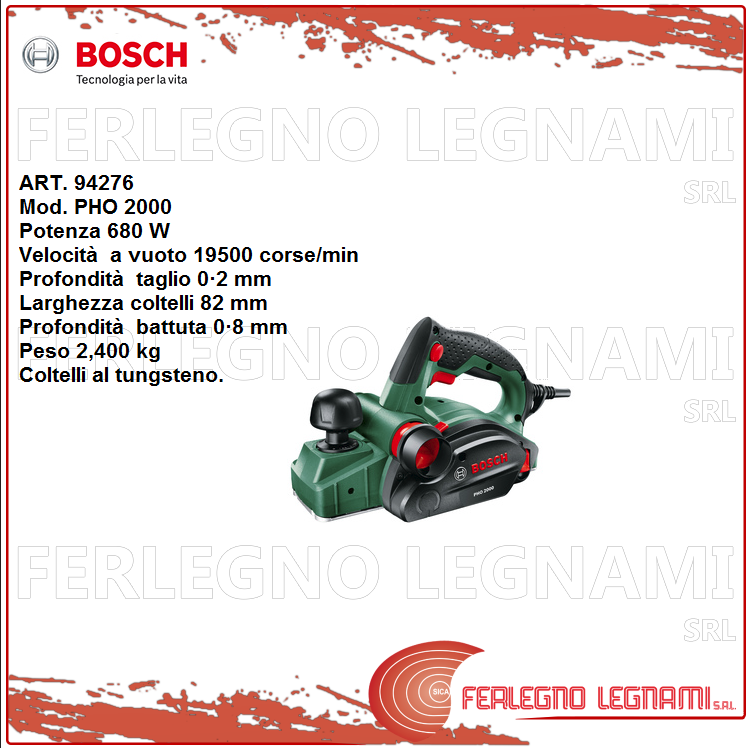 BOSCH-V PIALLETTO PHO2000   680W ART. 94276