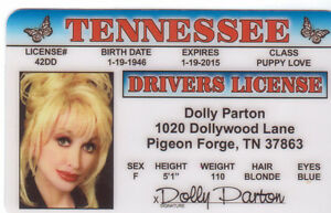 Dolly-Parton-DOLLYWOOD-Pigeon-Forge-TN-plastic-ID-card-Drivers-License