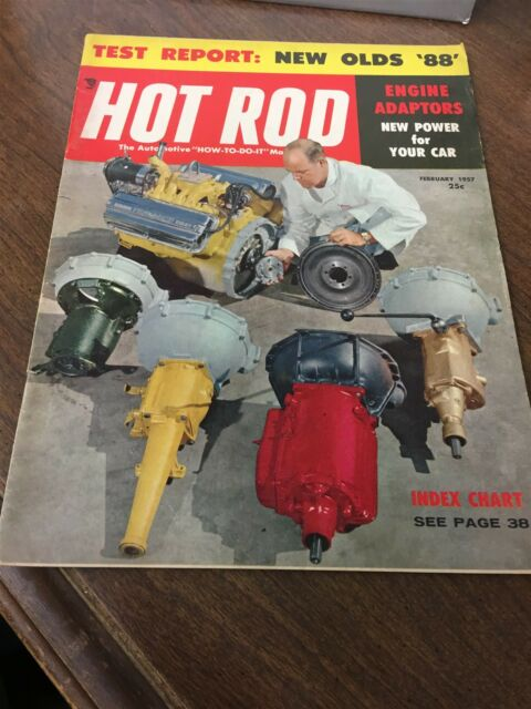 February 1957 Hot Rod Magazine Test Report New Olds '88
