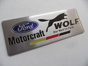 FORD-WOLF-RS-Racing-Motorsport-Alu-3D-Aufkleber-Sticker-Emblem-Schriftzug-Logo