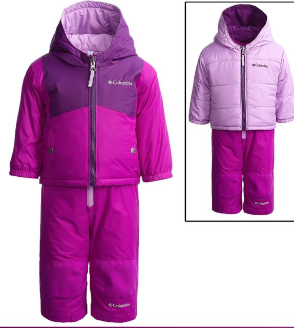 1e654e92d3c6b NEW COLUMBIA SNOWSUIT SET BABY GIRL 18-24M WATERPROOF JACKET SNOWPANT FREE  SHIP