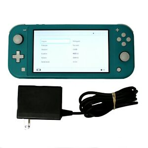 Nintendo-Switch-Lite-Handheld-Gaming-Console-Turquoise-w-Power-supply
