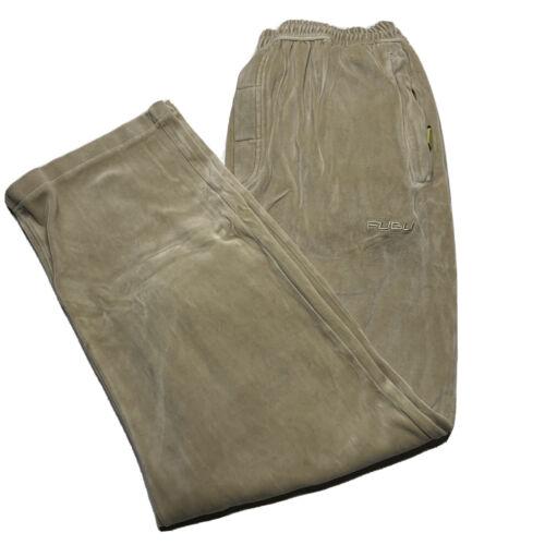 Vintage Fubu Mens Size XL Tan Velour Track Pants S