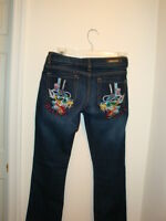 P&P Jeans Wolf in Top Hat Design Size 3/4