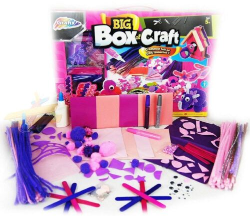 Make Your Own Items 5y+ PINK BIG Box Of Craft Childrens Girls GIANT Art Set 100