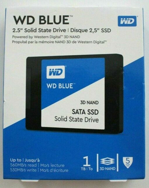 "WD Blue 1TB 2.5"" SSD Solid State Drive WDBNCE0010PNC-WRSN in Sealed Retail Box"