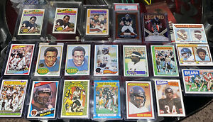 20 Card lot Walter Payton Rookie Card, Topps, Prizm, Patch Card. Huge Collection
