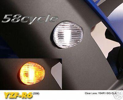 R6 R1 Clear LED Flush Mount Signal Lights Signals 2008 2009 2010 2011 2012 2013