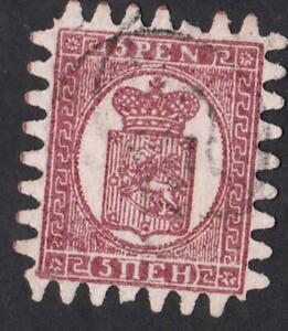 FINLANDE-N-11-a-USED-YEAR-1870-vertical-laid-paper-CV-250