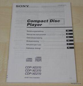 Sony CDP-XE270 / CDP-XE370 / CDP-XE570 Bedienungsanleitung mehrsprachig, Deutsch