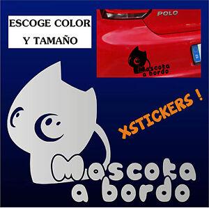Sticker-Vinilo-MASCOTA-A-BORDO-Vinyl-Car-Tunnig-Pegatina-ADESIVI-AUFKLEBER