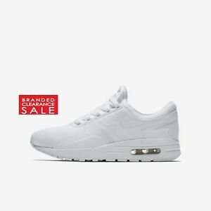 huge selection of 5f2ba 15a13 Details about BNIB NEW BOYS NIKE AIR MAX ZERO ESSENTIAL TRIPLE WHITE SIZE 5  6 UK