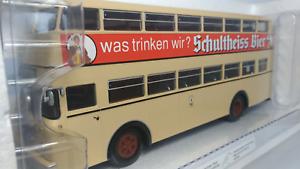 MINICHAMPS    Scale  1 43  Büssing  D2U    Schultheiss  Bier     Used