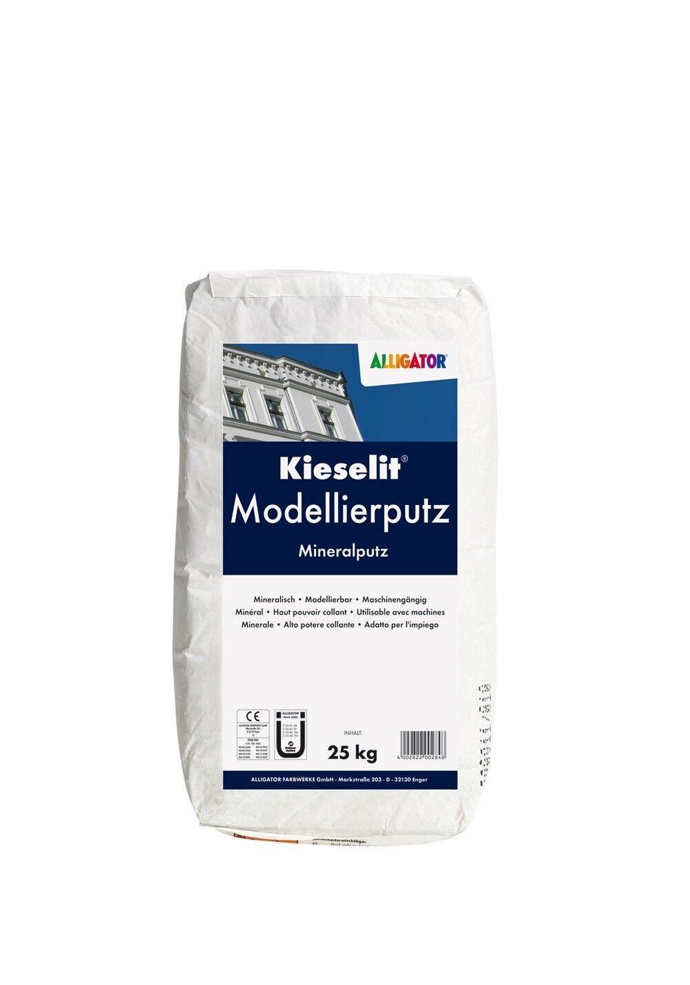 20x Alligator Kieselit-Modellierputz fein 25kg -mineralisch, faserverstärkt-
